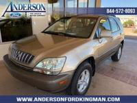This Lexus RX 300 has a strong Gas V6 3.0L/183 engine