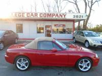 VERY CLEAN, NICE DRIVING AND WELL-SERVICED MIATA IN A