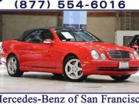 Clean CARFAX. Red 2002 Mercedes-Benz CLK-Class CLK55