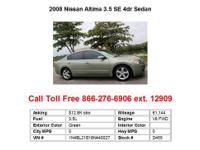 2002 Nissan Altima 3.5SE 4dr Sedan Sedan 4 Doors Gold