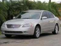 2002 NISSAN ALTIMA SE, 5 SPEED MANUAL, ICE COLD A/C,