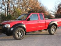 2002 Nissan Frontier, 4x4, cloth interior, pw/pl, tilt,