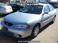2002 Nissan Sentra Gxe 4 Cylinder 1.8L Automatic 95383
