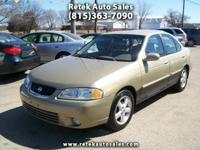 2002 Nissan Sentra GXE 4 Cylinder 1.8L Automatic Cruise