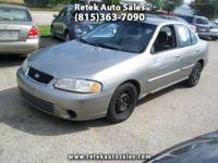 2002 Nissan Sentra GXE 4 Cylinder 1.8L Automatic