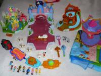 Big lot of Polly Pocket, Disney Magic Kingdom Playset