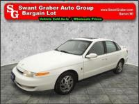 This 2002 Saturn comes equipped with power door locks,