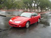 Red two owner Saturn SC2, 3 door 4 cylinder 1.9 liter