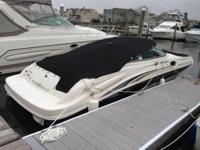 27' SeaRay SunDeck Full new canvas side exhaust new