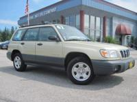 Just in to our Dealership !! 2002 Forester ALL WHEEL
