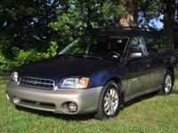 2002 Subaru Outback Wagon AWD. Navy Metallic w/Titanium