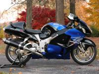 Up for sale is a 2002 Suzuki Hayabusa with a clean and