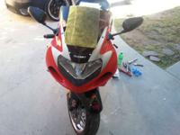 I have a red/ blk and silver suzuki gsxr1000 clean/