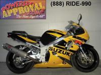 2002 Suzuki GSXR750 crotch rocket for sale only $3,900!