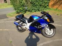 2002 Suzuki Hayabusa Blue/Black adult owned and driven