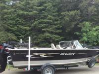 21' Sylvan, luxury fishing boat with high sides, 8'