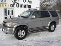2002 Toyota 4Runner Sport 4WD, 6 Cylinder, Automatic,