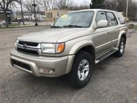 2002 TOYOTA 4RUNNER LIMITED IS ENJOYABLE TO DRIVE.