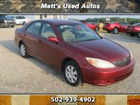 Lovely ***2002 Toyota Camry LE*** $6,490/Low Miles/Great MPG!!