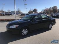 Black 2002 Toyota Camry LE FWD 4-Speed Automatic with