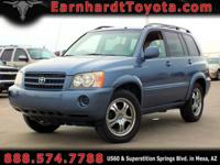 We are happy to offer you this 2002 Toyota Highlander