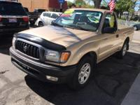 Look at this 2002 Toyota Tacoma Base. Its Automatic