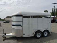 2002 Thoro-Bilt GT. 2 horse angle load horse trailer.