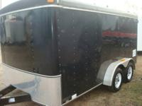 UNITED 7X14 U MODEL ENCLOSED TRAILER, TANDEM TORSION