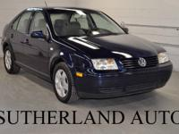 Options Included: 2002 Volkswagen Jetta! Manual