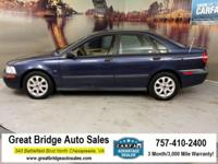 New Price! 2002 Volvo S40 A 1.9T A 1.9T Dark Blue  CARS