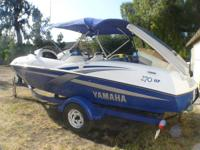 2002 JET BOAT 50 MPH ROCKETSHIP 270H. P. Low hours