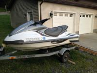 2002 Yamaha FX140 Jet ski with trailer, jet ski is in