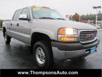 2002 GMC Sierra 2500HD Crew Cab SLE 4x4 Short Bed. This