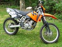 2002 Ktm 400 SX, Orange, 398cc, Liquid-Cooled, Single