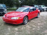 2002 CHEVROLET MONTE CARLO This is a clean, low mileage