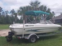 2003 19 FT Glastron SX195 boatand trailer. Bow Rider