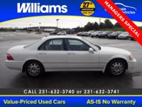 Options:  2003 Acura Rl 3.5|White|This Vehicle Is