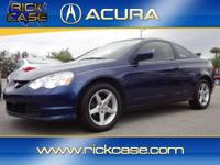 This clean, Blue RSX looks great! Please call us so we