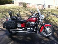 2003 Honda Shadow (750) -- decked out with many