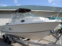 Really great 2003 Aquasport 215 Explorer walk around