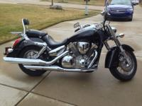 2003 Black Honda VTX 1300S Retro in mint condition.