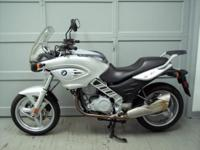 2003 BMW F650CS, metallic silver with only 15383 miles.