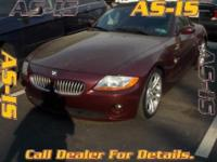 2003 BMW Z4 3.0i. Easygoing entry and exit. It will