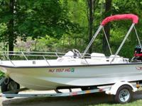 BOSTON WHALER 2003 15FT. SPORT WITH A MERCURY 60 H.P. 4