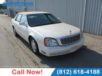 Clean CARFAX. White 2003 Cadillac DeVille FWD 4-Speed