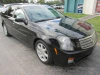 2003 CADILLAC CTS - BLACK WITH TWO TONE GRAY LEATHER