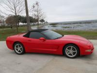 2003 corvette C5 convertible LS1 , auto, red, black top