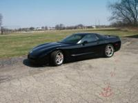 2003 Chevrolet Corvette Black With Glass Tinted