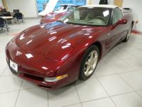This one-year-only Anniversary Red Metallic Corvette is
