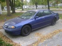 Blue 2003 Chevrolet Impala for sale by owner. Odometer